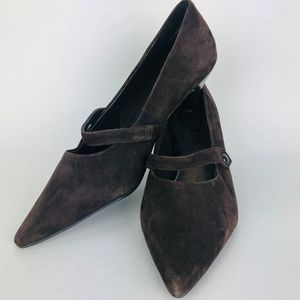 Trotters Brown Suede Mary Jane Style Pumps Shoes